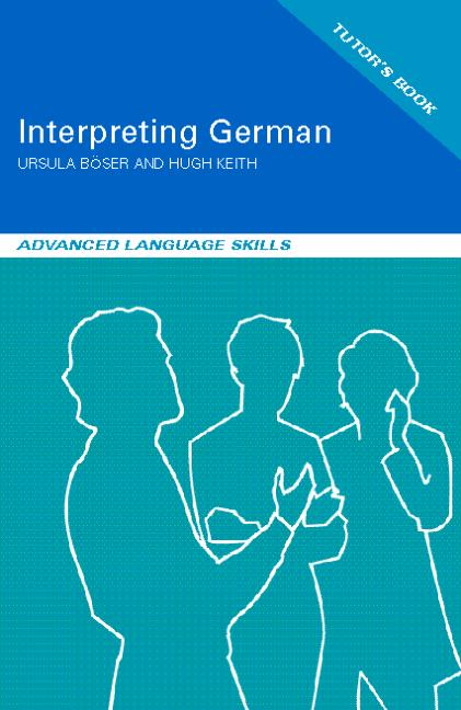 Interpreting German Advanced Language Skills book cover