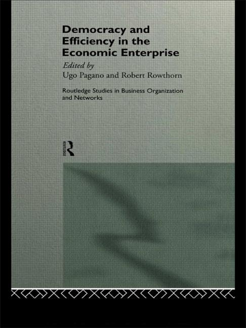 Democracy and Efficiency in the Economic Enterprise book cover