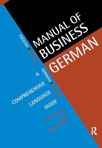 Manual of Business German A Comprehensive Language Guide book cover