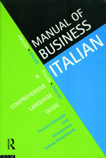 Manual of Business Italian A Comprehensive Language Guide book cover
