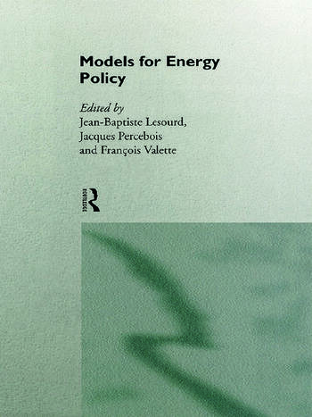 Models for Energy Policy book cover