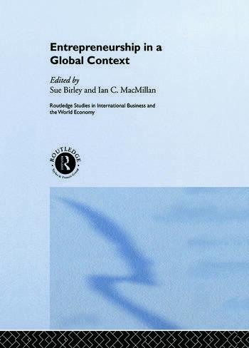 Entrepreneurship in a Global Context book cover