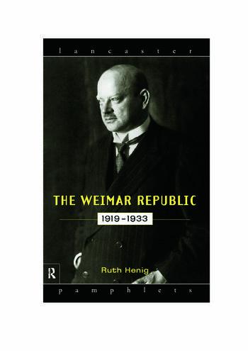 The Weimar Republic 1919-1933 book cover