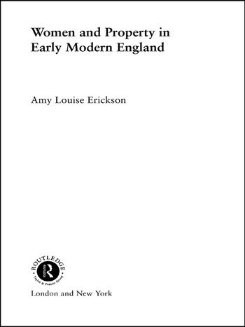 Women and Property In Early Modern England book cover