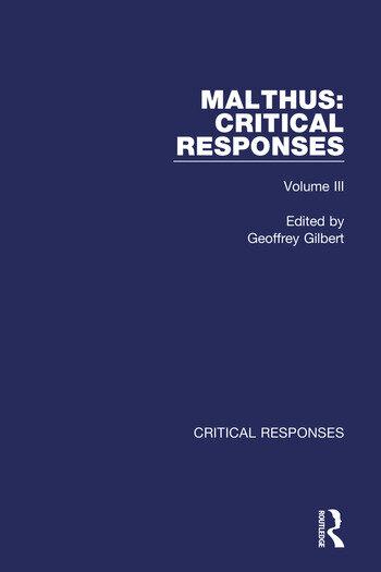 Thomas Robert Malthus Critical Responses book cover