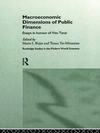 macroeconomic dimensions of public finance essays in honour of macroeconomic dimensions of public finance essays in honour of vito tanzi
