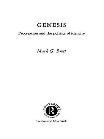 Genesis Procreation and the Politics of Identity book cover