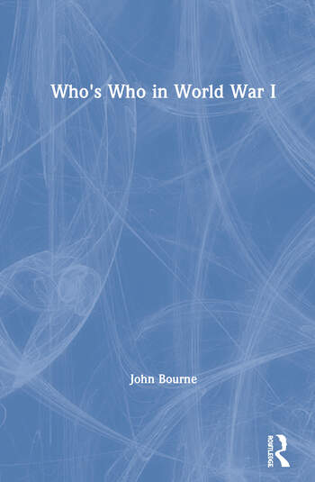 Who's Who in World War I book cover