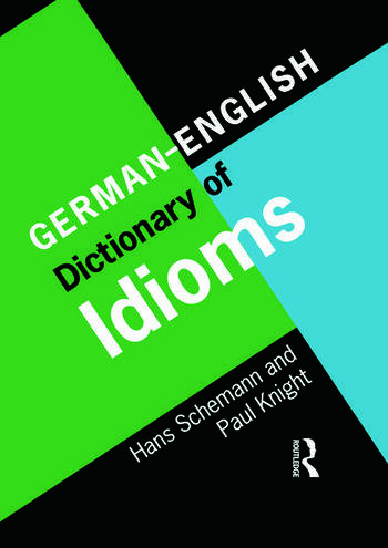 German/English Dictionary of Idioms book cover