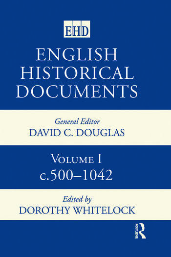 English Historical Documents 500-1041 book cover