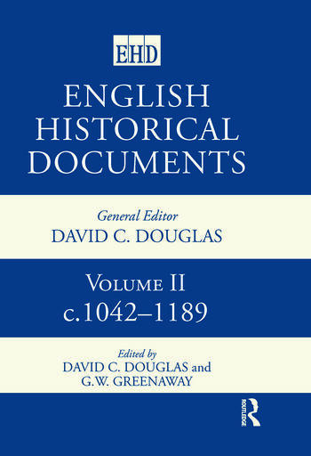 English Historical Documents: 1042–1189 book cover