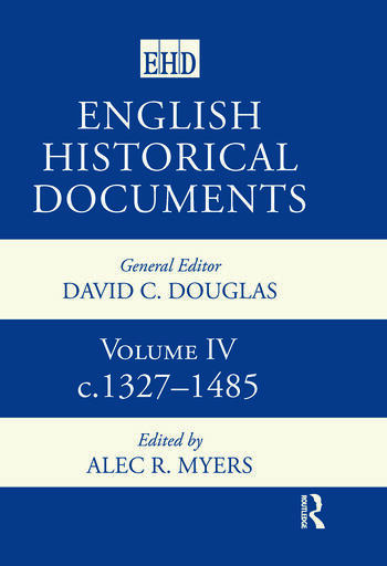 English Historical Documents Volume 4 1327-1485 book cover