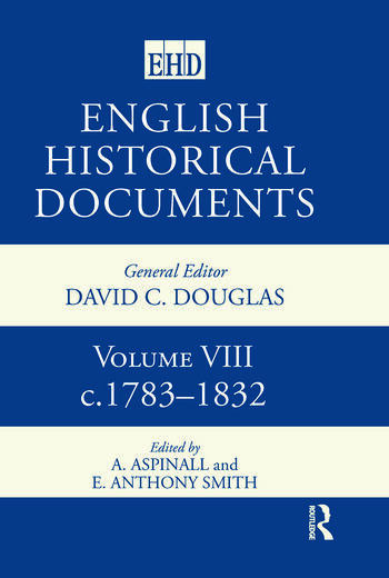 English Historical Documents Volume 8 1783-1832 book cover