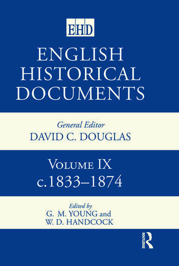 English Historical Documents Volume 9 1833-1874 book cover