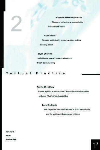 Textual Practice V10 Issue 2 book cover