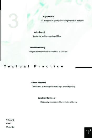 Textual Practice 10.3 book cover