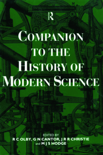 Companion to the History of Modern Science book cover