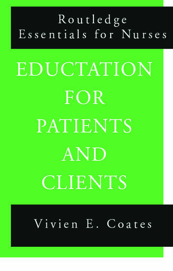 Education For Patients and Clients book cover