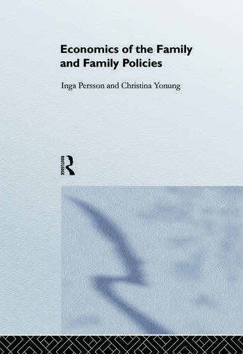 Economics of the Family and Family Policies book cover