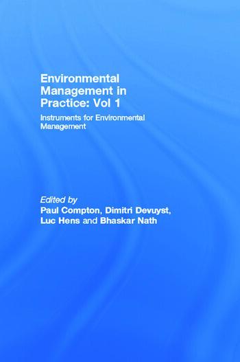 Environmental Management in Practice: Vol 1 Instruments for Environmental Management book cover