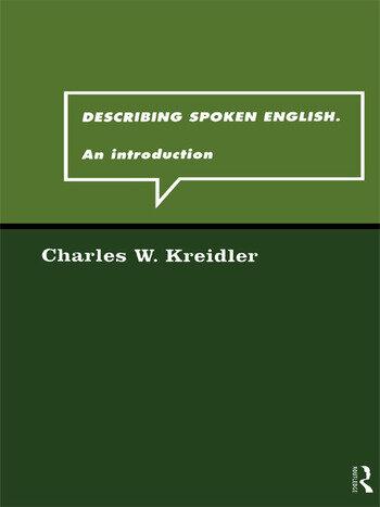 Describing Spoken English An Introduction book cover
