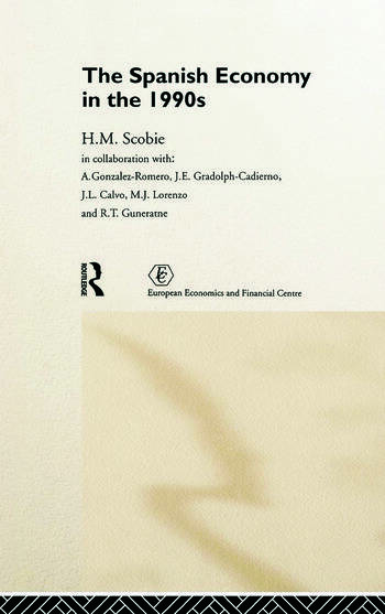 The Spanish Economy in the 1990s book cover