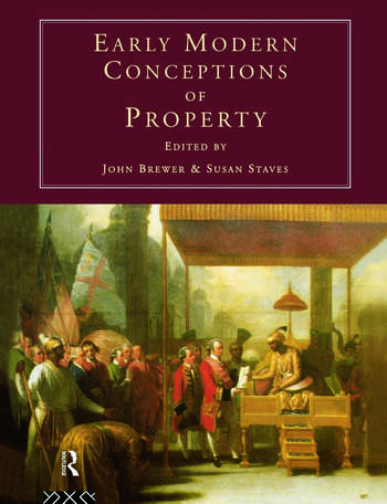 Early Modern Conceptions of Property book cover