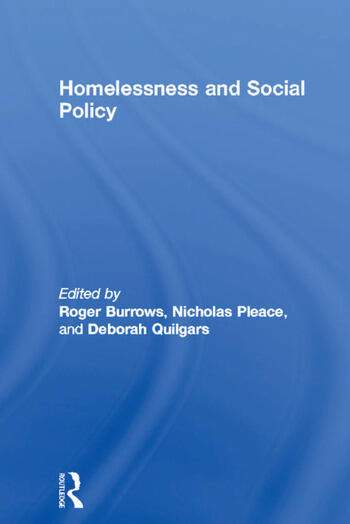 Homelessness and Social Policy book cover