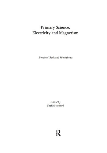 Primary Science: Electricity and Magnetism Teacher's CD-ROM pack for Key Stages 1 & 2 book cover