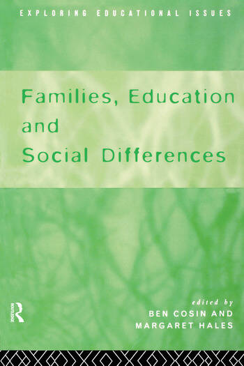 Families, Education and Social Differences book cover