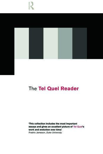 The Tel Quel Reader book cover