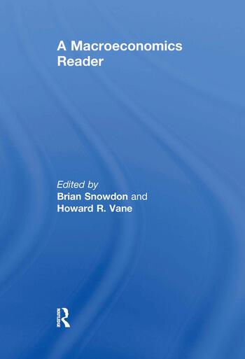 A Macroeconomics Reader book cover