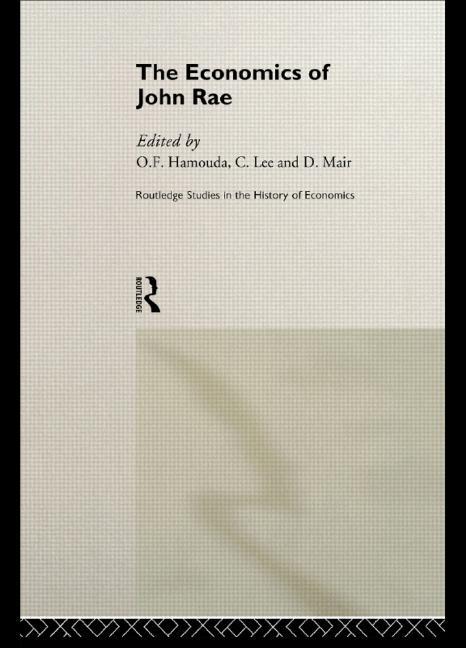 The Economics of John Rae book cover
