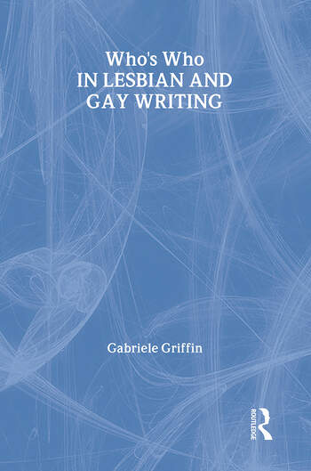 Who's Who in Lesbian and Gay Writing book cover
