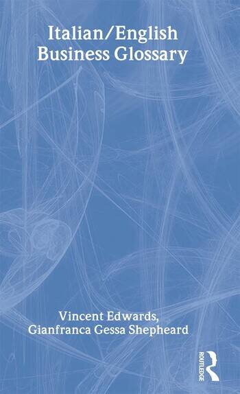 Italian/English Business Glossary book cover