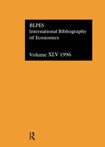 IBSS: Economics: 1996 Volume 45 book cover