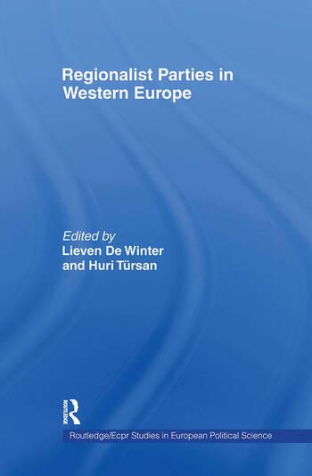 Regionalist Parties in Western Europe book cover