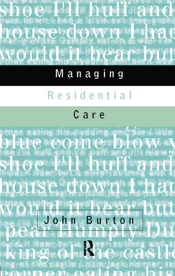 Managing Residential Care book cover