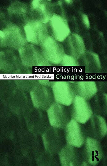Social Policy in a Changing Society book cover