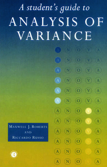 A Student's Guide to Analysis of Variance book cover