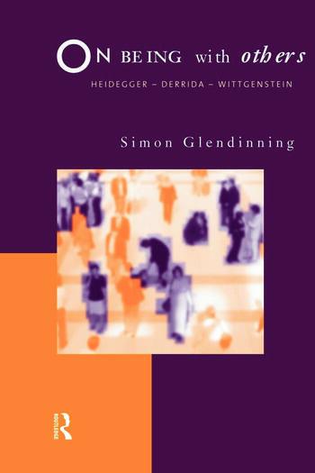 On Being With Others Heidegger, Wittgenstein, Derrida book cover