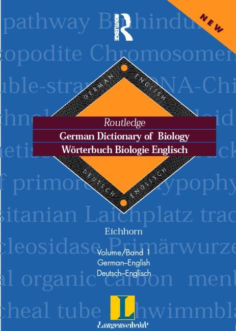 German Dictionary of Biology Vol 1 Worterbuch Biologie (German-English) book cover
