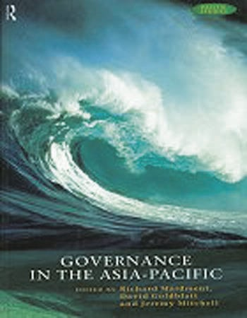 Governance in the Asia-Pacific book cover