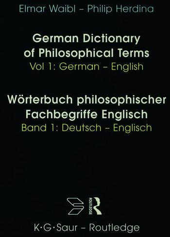 Dict Philos Terms Germ-Eng V1 book cover