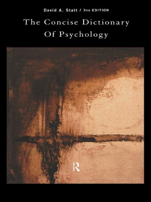 The Concise Dictionary of Psychology book cover