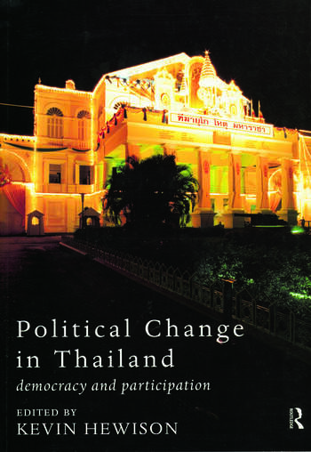 Political Change in Thailand Democracy and Participation book cover