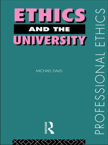 Ethics and the University book cover