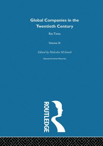 Rio Tinto:Global Comp 20th V9 book cover