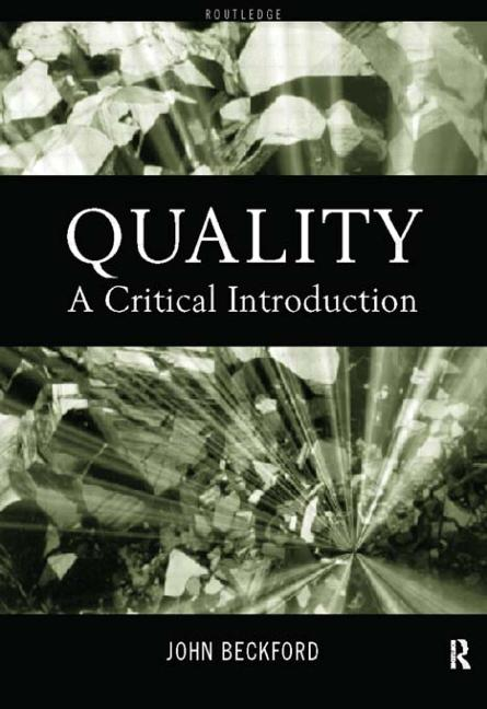 Quality A Critical Introduction book cover