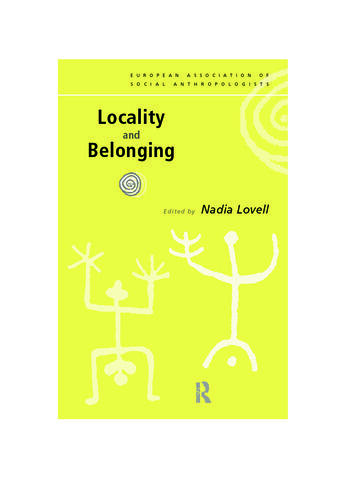 Locality and Belonging book cover